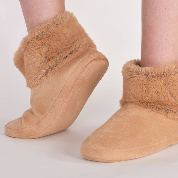 Lords & Lilies Dames nachtmode overig Lords & Lilies pantoffels camel