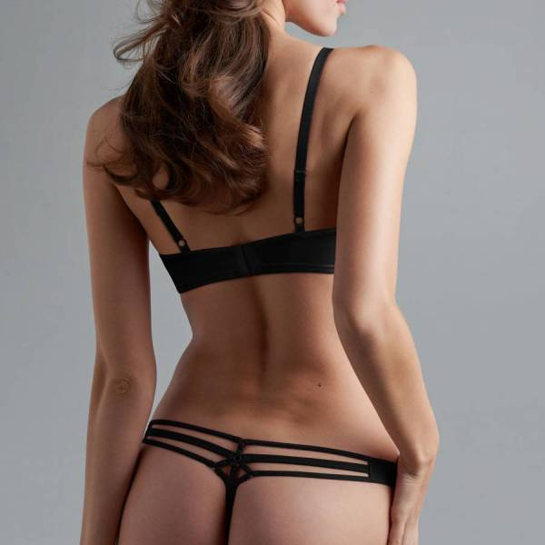 Marlies Dekkers String Marlies Dekkers space odyssey thong black zwart